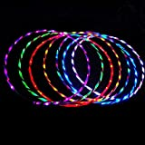 24 LED Lights Flash Hula Hoop Fitness 7 Color Changing Abdominal Exercise Tools 90cm - Lab & Scientific Supplies Science Education - 1 Pcs Light Hula Hoop