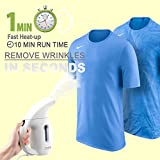 zonpor Portable Steamer for Clothes, Handheld Clothes Steamer, Clothing Accessories Steam Iron for Travel/Home Hand Held Garment Fabric Steamer, Fast Heat Up, Automatic Shut-Off Safety Protection