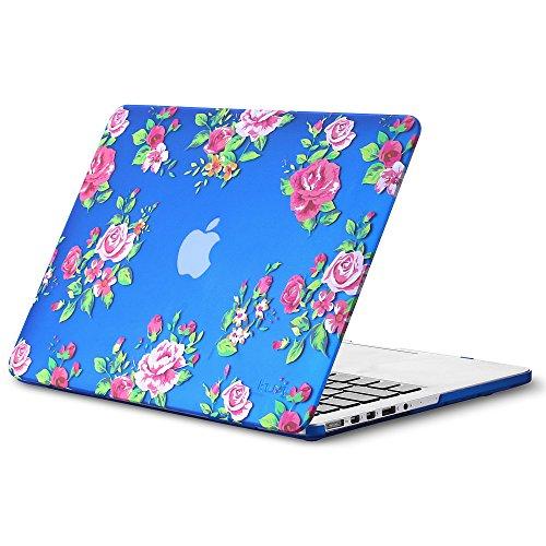 Kuzy - Vintage Flowers Rubberized Hard Case for Older MacBook Pro 15.4