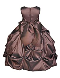 Wedding Pageant Taffeta Bubble Pick-up Taffeta Flower Girl Dress Easter Summer 301s