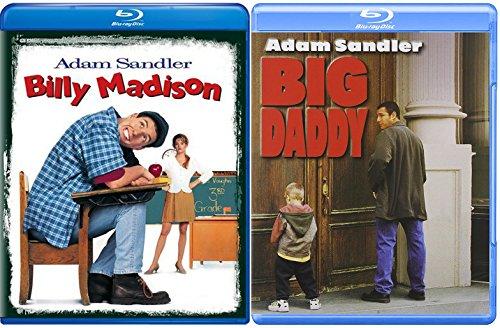 Big Daddy Blu Ray + Billy Madison Comedy Double Feature Adam Sandler Bundle Movie Set