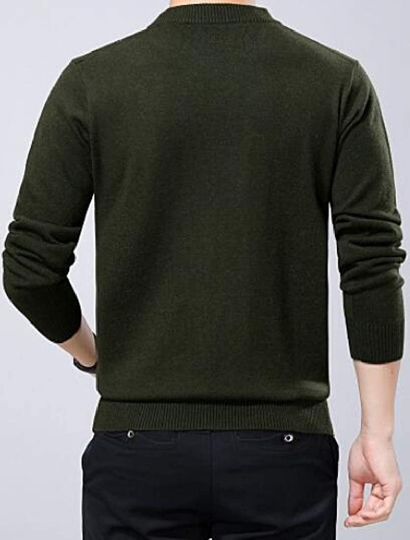 WSPLYSPJY Mens Basic Designed Casual Slim Fit Knitted Pullover Sweaters
