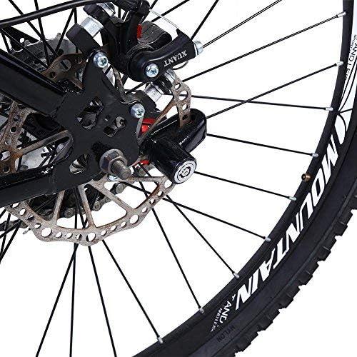 Tbest Bicycle Disc Brake Lock Mini Anti-Theft Wheel Security Lock with Plastic Frame /& Keys for Mountain Road MTB Bike Cycling Rotor Disc Brake Wheel Lock 3 Colors Black