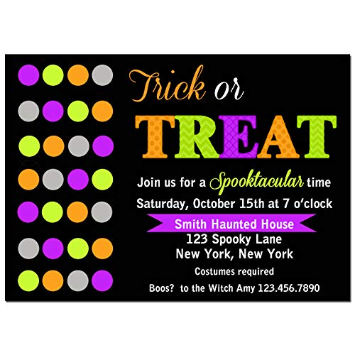 (Halloween Party Invitation - Halloween Invitation - Trick or Treat Modern Chic Collection)