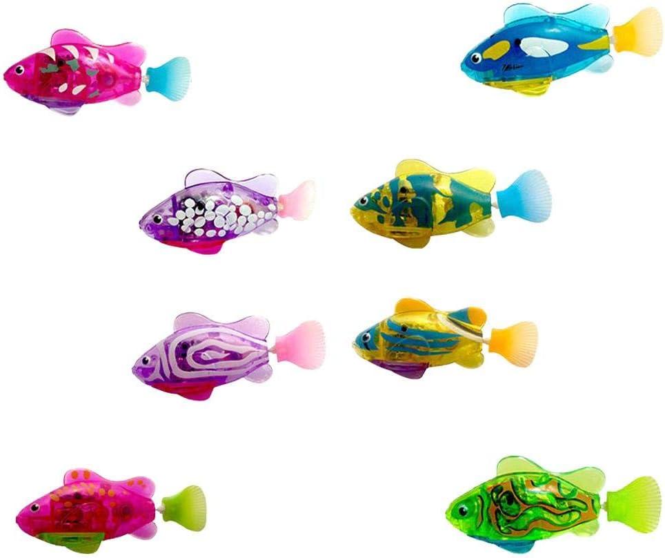 Bloomma Trasparente Pesce Elettrico Nuoto Robot Pesce Vasca da Bagno per Bambini Giocattoli Regalo per Bambini Nuoto nel Serbatoio dellAcqua Vasca da Bagno per Neonati Giocattoli da Bagno Giocattolo