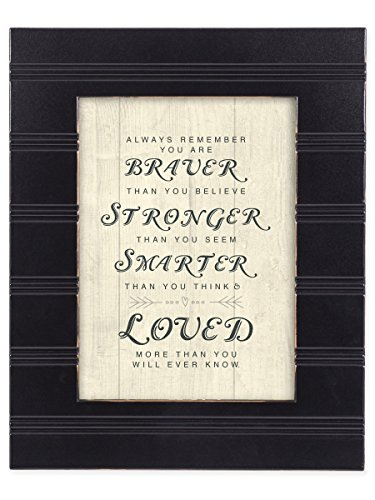 You are Braver, Stonger and Smarter Than You Know Black 8 x 10 Framed Wall Art Plaque