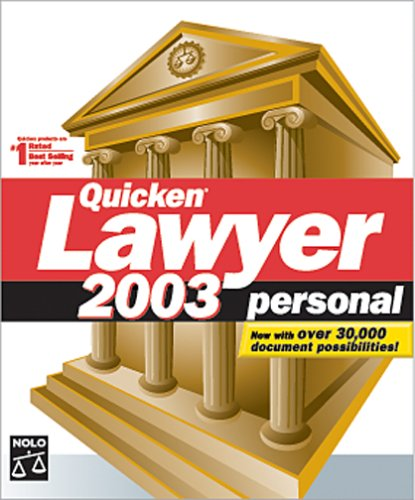 Quicken Lawyer 2003 Personal [OLD VERSION] (Lawyer Software Personal)