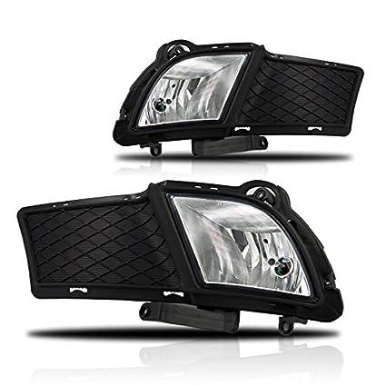 amazon com: premium 10-12 kia forte fog light - clear (wiring kit  included): automotive