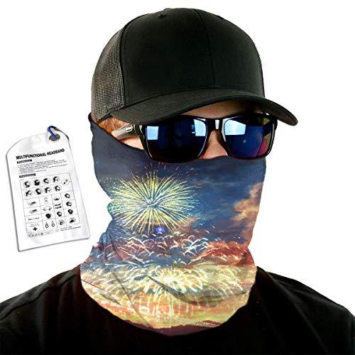C-Emily Firework Headband for Man Woman, Face Bandana Mask, Head Wrap, Neck Gaiter, Tube Mask and Sweatband