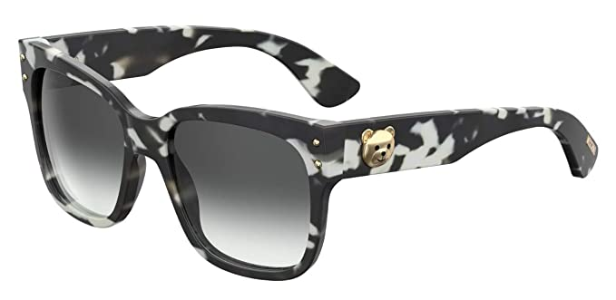 0c63807a54c Amazon.com: Moschino MOS008/S Sunglasses Black Havana w/Dark Grey ...