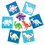 Baker Ross Dinosaur Stencil Set for Arts and Crafts - Novelty Toys for Kids, Perfect Party, Loot or Prize Bag Filler (Pack of 6)