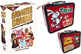 Cereal Breakfast Monsters Game Cards Crunch Fun Battle Bundled with Lucky Charms 2 Sided Tin Trix Rabbit / Frute Brute / Boo-Berry / Count Chocula / Yummy Mummy & Frankenberry Characters