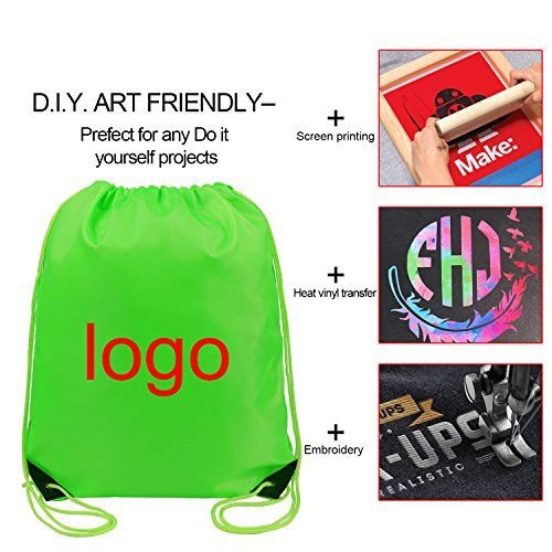 Drawstring Bags Bulk for Kids Boys Girls Party Favors Bags Gym Drawstring Backpacks Cinch Bags 10 Pack by BeeTravel (Image #1)