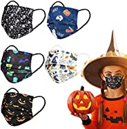 Disposable Face Masks with Happy Halloween Dinosaur Design for Kids Girls Boys