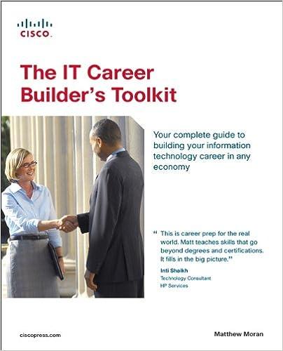 the it career builders toolkit matthew moran 9781587131561 amazoncom books