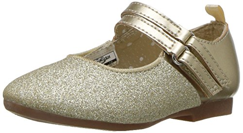 Oshkosh Kids Dress (Oshkosh B'Gosh  Girls' Roses Ballet Flat, Gold, 10 M US Toddler)