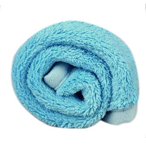 - COPPEN 2018 New Soft Pet Dog Puppy Cat Mat Soft Fleece Blanket Quilt Bed Cushion Pad (Blue)