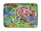 Kids Ultra Soft Play Mat for Children Learnig Carpet Area Rugs - Princess Castle Design 39x59 inch