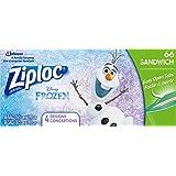 Ziploc Disney Frozen Sandwich Bags with Easy Open Tabs - 66 Count