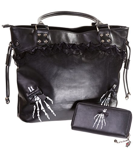 Banned Apparel, Borsa a spalla donna Nero Black