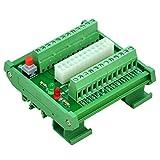Electronics-Salon DIN Rail Mount 24/20-pins ATX DC Power Supply Breakout Board Module.
