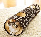 Giraffe Print Cat Tunnel Play Toy By Collections Etc, My Pet Supplies