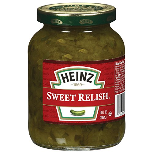 Heinz Sweet Green Relish (10 oz Jars, Pack of 12)