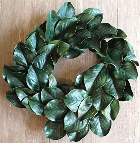 Silk Road Home Magnolia Wreath 24 Inch for Front Door Adjustable Leaves