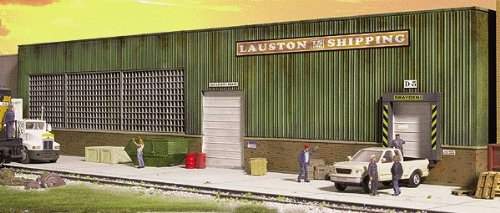 - Walthers Cornerstone HO Scale Lauston Shipping Background Building