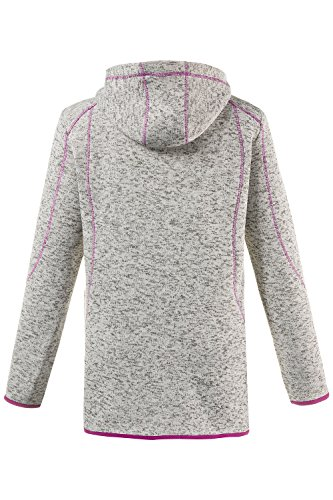 Berry Women's Popken Cardigan Strickfleece Ulla Melange Grey YaZdax