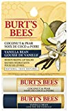 Burt's Bees 100% Natural Lip Balm, Coconut & Pear and Vanilla Bean, Blister