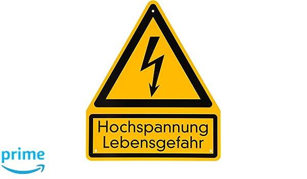 KS Tools 117.2483 - Cartel de advertencia de alta tensión ...