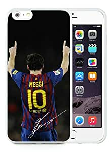 Hot Sale Soccer Player Lionel Messi 21 White iPhone 6 Plus/6S Plus 5.5 inches Screen TPU Phone Case Fashion and Cool Design