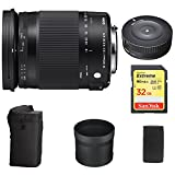 Sigma 18-300mm F3.5-6.3 DC Macro OS HSM Lens Contemporary for Canon EF Cameras (886-101) with Sigma USB Dock for Canon Lens & Lexar 32GB Professional 1000x SDHC Class 10 UHS-II Memory Card