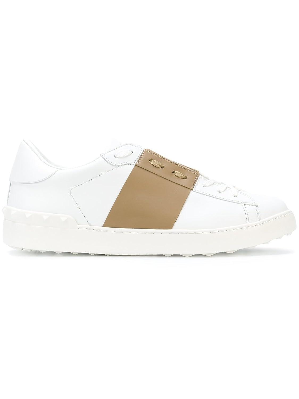 Valentino Garavani メンズ PY2S0830BLU0GP ホワイト 革 運動靴 B07C8ZP9VY
