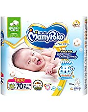 MamyPoko Extra Dry Tape Organic Newborn, 70 count, 70 count