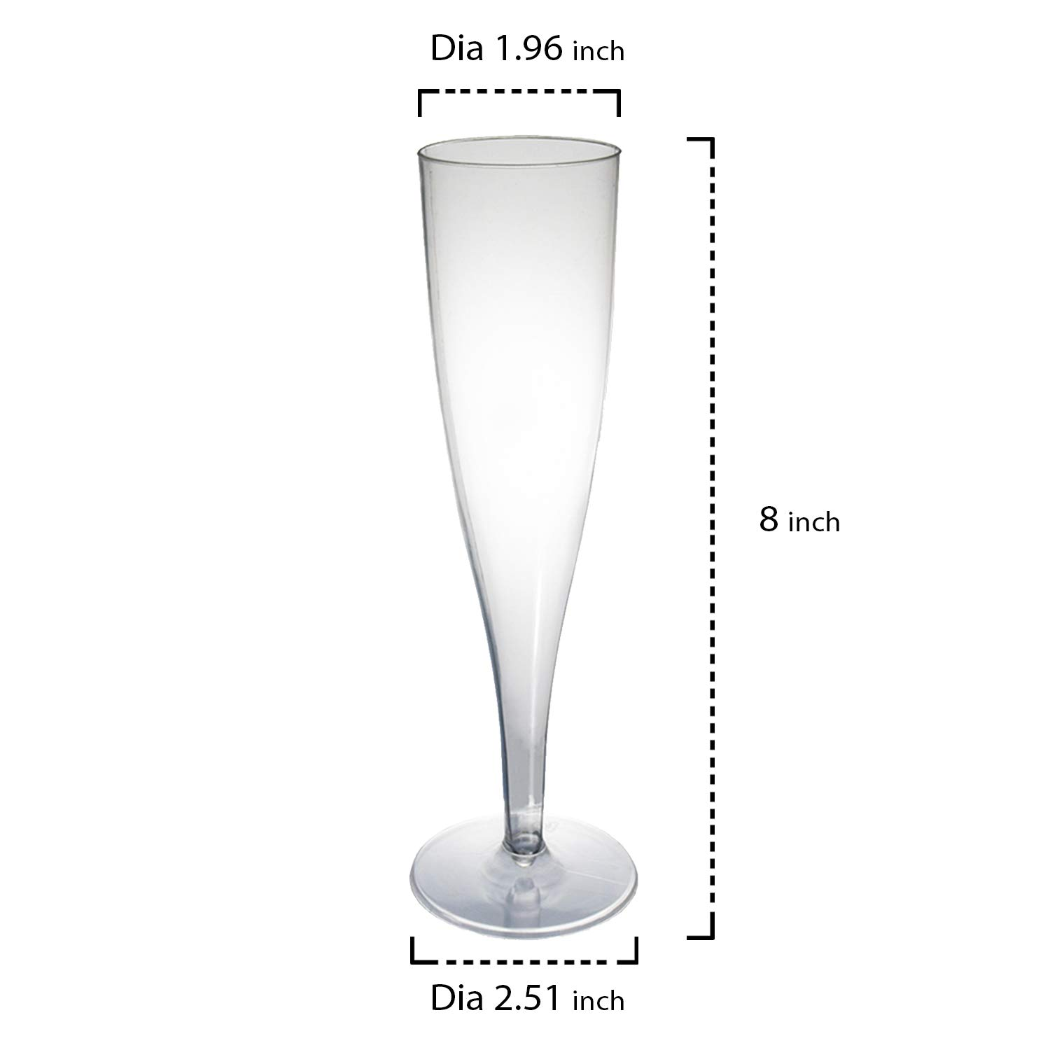 Case of 48 North West Enterprises 8-Ounce Capacity Clear Party Essentials WINEBOX-6 Hard Plastic 1-Piece Wine Glass