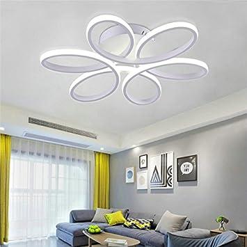 Lámpara LED de techo - HomeLava 50W Lámpara de Techo Moderna para Salón/Comerdor/Habitaciones,Color Blanco (Blanco Frío): Amazon.es: Hogar