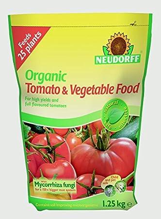 Neudorff - Fertilizante orgánico para tomates y verduras alimentos con micorriza - 1, 25 kg bolsa bolsa: Amazon.es: Jardín