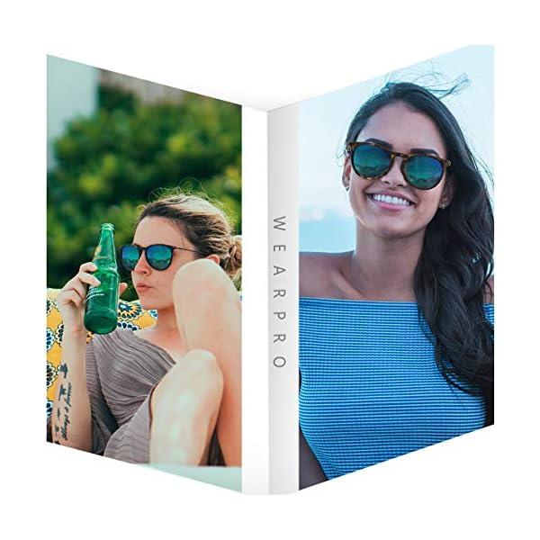 Sunglasses for Women Men Polarized uv Protection Wearpro Fashion Vintage Round Classic Retro Aviator Mirrored Sun glasses