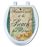 Artisans Seats Decorative Toilet Seats, BEACH NOTES, Made In America: Elongated
