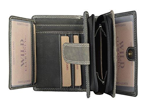 Trendy Damen Geldbörse in grau - Damen Geldbeutel