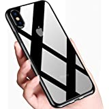 innislink Custodia iPhone XS, Cover iPhone X Trasparente Silicone TPU Antiurto Case Anti-Scratch Crystal Ultra Sottile Anti-Graffio Flexible Bumper Protettiva Caso per Apple iPhone XS iPhone X - Nero