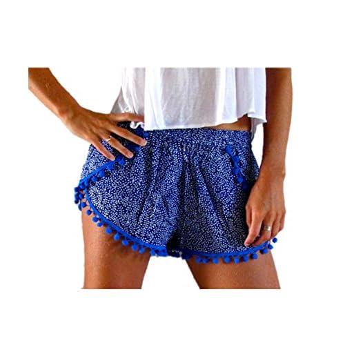 0b07322620 Shele Women Sexy Floral Print Hot Pants Summer Casual High Waist Beach  Shorts delicate
