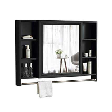 Amazon Com Laxf Mirrors Bathroom Cabinet With Towel Rod