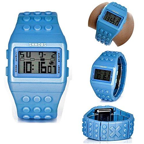 Reloj Original Shhors, Luz Led,Contra Agua, Alarma, Blocks,Divertido