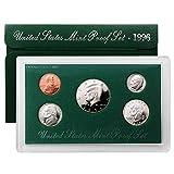 1996 S Proof Set 5 Coin Set OGP Original Government