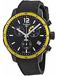 Black Dial SS Silicone Chronograph Quartz Men's Watch T0954493705700