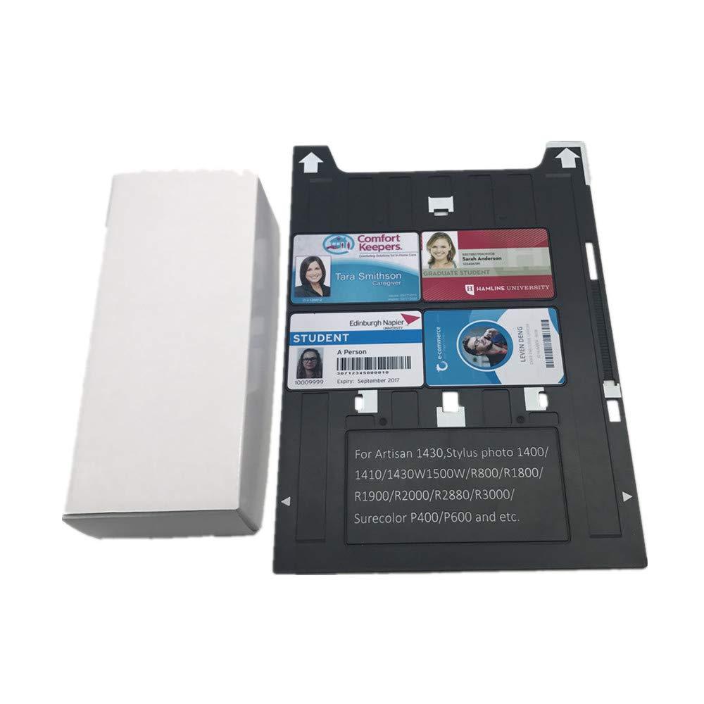 PVC ID Card Tray for Espon A3 Type Printer 1400,1500W,1430 +50X Blank Inkjet PVC Card by CSF (Image #6)