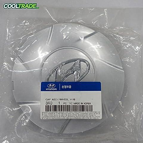 OEM Genuine Wheel Center Hub Cap Aluminum 4p 1set for 11 13 Hyundai Elantra Md ()